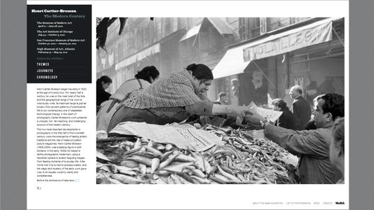 Henri Cartier-Bresson: The Modern Century Website